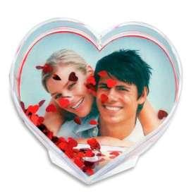 Cadre photo coeur et confettis