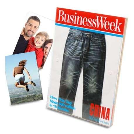 Cadre photo en verre magazine BUSINESS Week