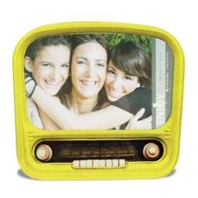Cadre photo forme radio vintage en verre