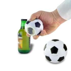 Décapsuleur ballon de football sonore noir et blanc