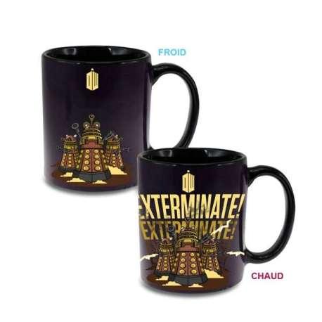Mug Thermoréactif Daleks Exterminate Dr Who