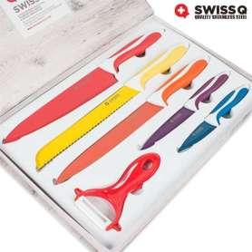 1 Coffret de Couteaux Swiss Q (6 pièces)