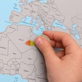 Mappemonde à Gratter carte du monde