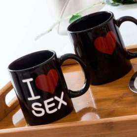 Tasse I Love Sex thermo-changeante
