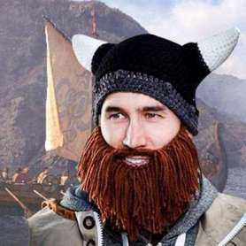 Bonnet Viking à barbe rousse