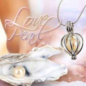 Coffret cadeau avec collier et huître à perle