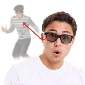 Paire de lunettes noires rétroviseurs pour espionnage