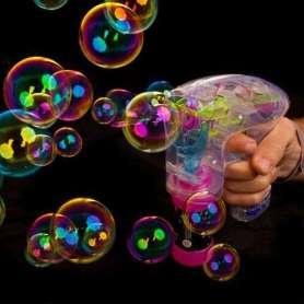 Pistolet à bulles lumineuses avec Led