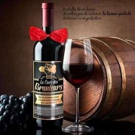 Bouteille de vin humoristique la cuvée des branleurs