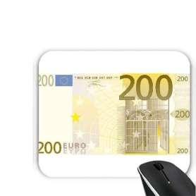 Tapis de souris billet de banque 200 euros