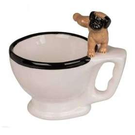 Mug humoristique cuvette de toilette avec chien qui pisse