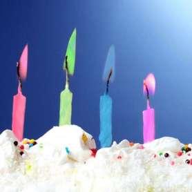 Bougies à flammes colorées (10 pièces)