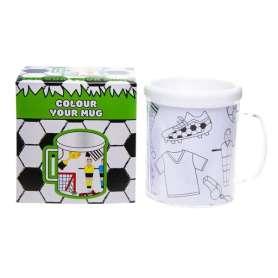 Mug avec papiers à colorier football