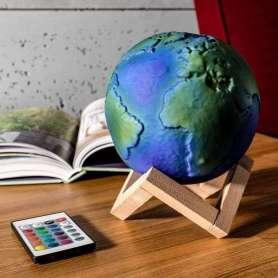 Lampe globe terrestre en 3D avec télécommande