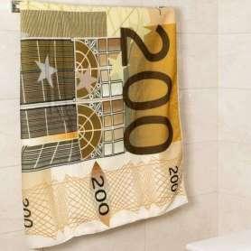 Serviette de bain billet de banque 200 euro