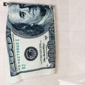 Serviette de bain billet de 100 dollars