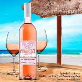 Bouteille de vin le rosé des connasses